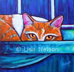 Art: Lulu in the Window by Artist Lisa M. Nelson
