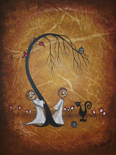 Art: Tied in Knots - sold by Artist Charlene Murray Zatloukal