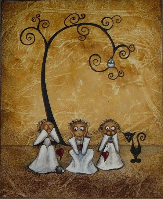 Art: See..Hear..Speak No Evil - sold by Artist Charlene Murray Zatloukal