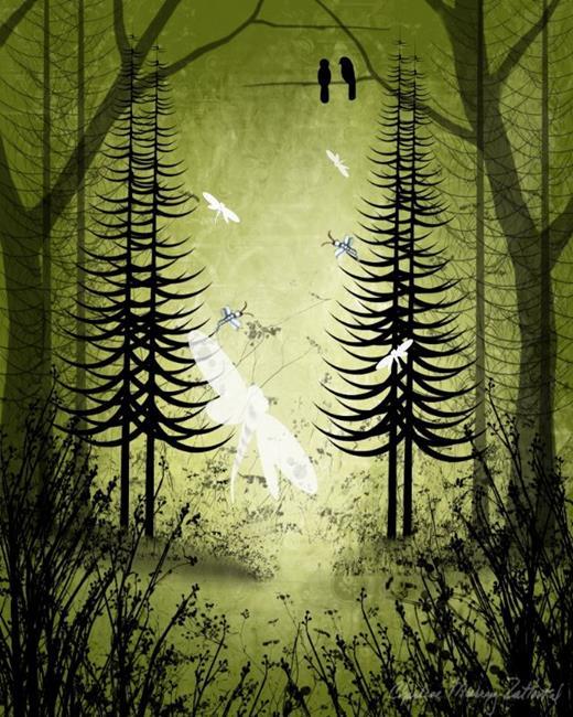Art: Forest Spirits by Artist Charlene Murray Zatloukal