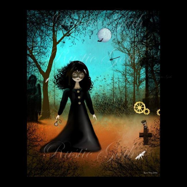 Art: Steampunk Hallows Eve by Artist Charlene Murray Zatloukal