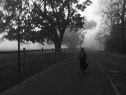Art: Going to School on a Foggy Morning by Chris Jeanguenat