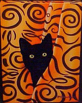 Art: MISS PRISS the BATHTUB CAT by Artist Rosemary Margaret Daunis