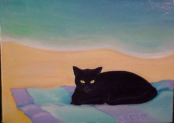 Art: BEACH BUM by Artist Rosemary Margaret Daunis