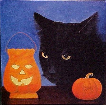 Art: HALLOWEEN LANTERN by Artist Rosemary Margaret Daunis