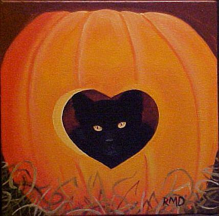 Art: HEART OF A PUMPKIN by Artist Rosemary Margaret Daunis