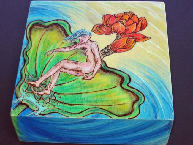 Art: Water Nymph Lotus by Artist Eddie D Sargent