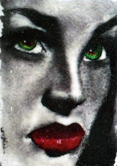 Art: Lauren Bacall by Artist Victor McGhee