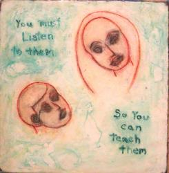 Art: You Must Listen by Artist Victor McGhee