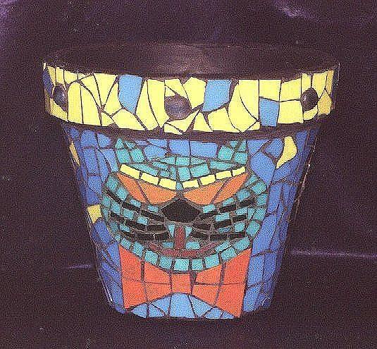 Art: Wild Cat Pot by Artist Victor McGhee