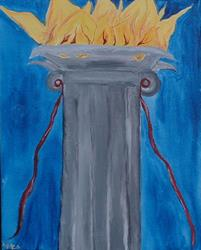 Art: The Burning Column by Artist Kathleen A. Roberson