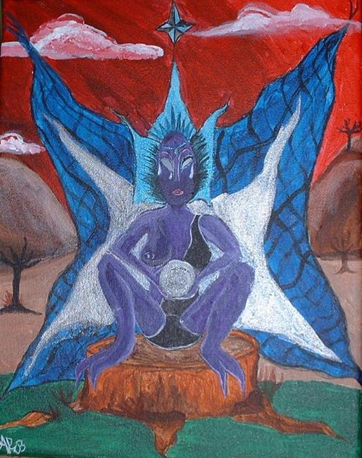 Art: The Goblin-Fairy by Artist Kathleen A. Roberson