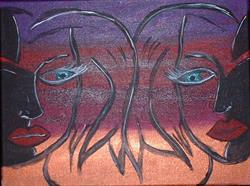 Art: Twin Suspicion by Artist Kathleen A. Roberson
