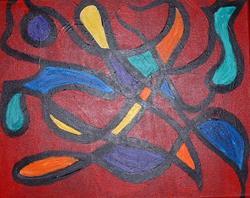 Art: Amoeba Brain by Artist Kathleen A. Roberson