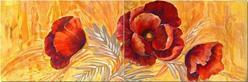 Art: Six Feet of Poppies - Diptych by Artist Diane Millsap