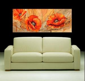 Detail Image for art Orange Poppies - Diptych