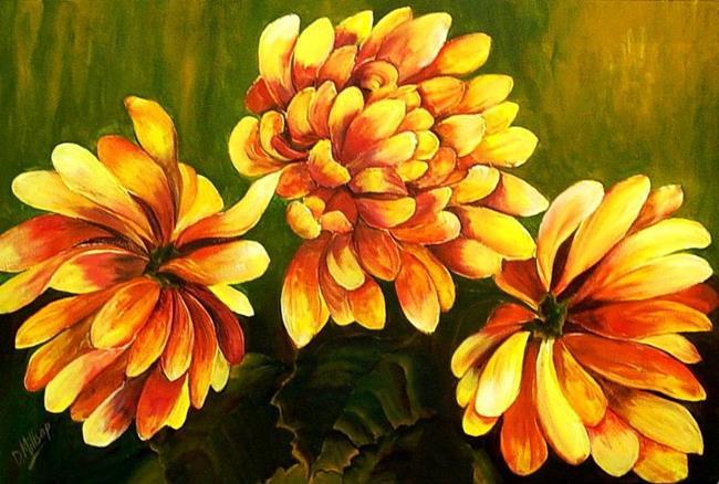 Art: Golden Mums by Artist Diane Millsap