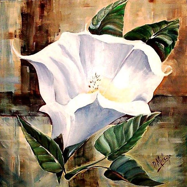 Art: Moon Flower Abstract by Artist Diane Millsap