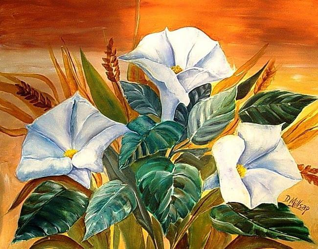Art: Moonflowers by Artist Diane Millsap