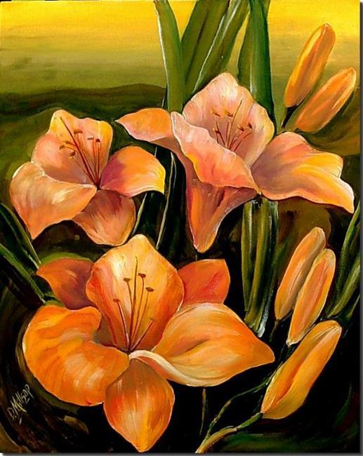 Art: Magnificent Stella Doro by Artist Diane Millsap