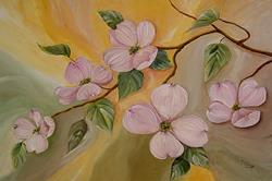 Art: Dogwood Blossoms by Artist Diane Millsap