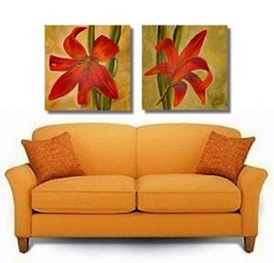 Detail Image for art Day Lily Pair