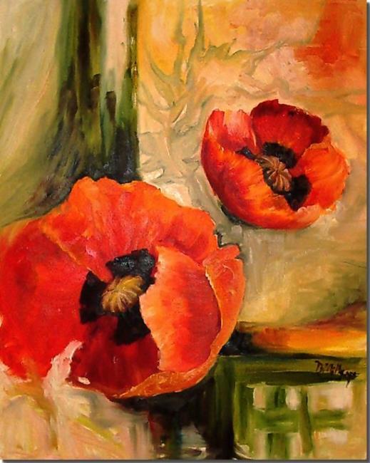 Art: Oriental Poppies by Artist Diane Millsap