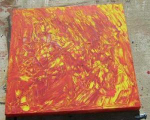 Detail Image for art RED AND YELLOW