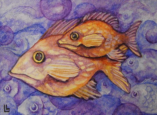 Art: One Fish Two Fish ACEO by Artist Lindi Levison