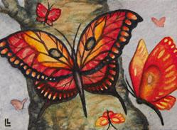Art: Butterfly Collection ACEO by Artist Lindi Levison