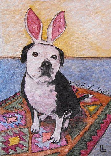 Art: Little Bunny Zu Zu ACEO by Artist Lindi Levison
