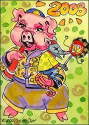 Art: Chinese Zodiac New Year by Artist Erika Nelson