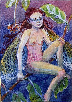 Art: Fairy by Artist Erika Nelson