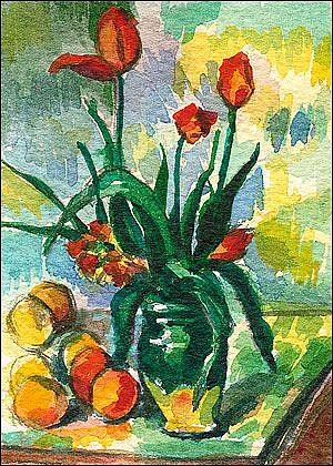 Title: After Cezanne's Tulips in a Vase