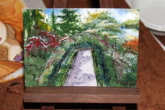Art: Rose Walkway at Buschart Gardens - sold by Artist Shari Lynn Schmidt