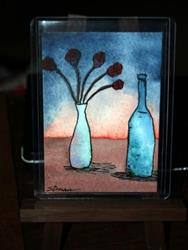 Art: Rosa Vino Aquarelle - sold by Artist Shari Lynn Schmidt