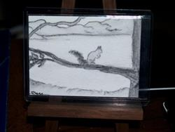 Art: Chumbley, Our Neighborhood Squirrel - sold by Artist Shari Lynn Schmidt