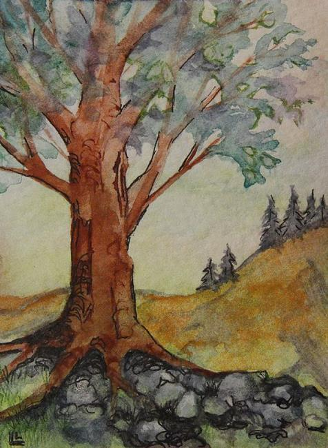 Art: ACEO Back to Nature by Artist Lindi Levison