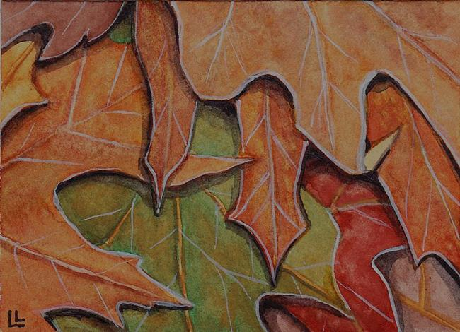 Art: Fall Colors ACEO by Artist Lindi Levison