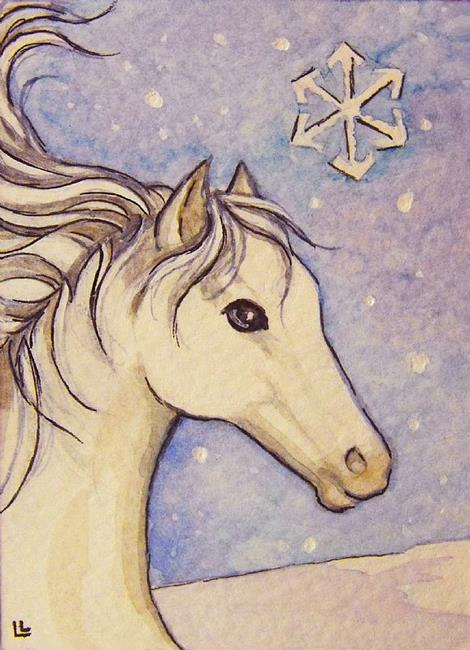 Art: Snowflake ACEO by Artist Lindi Levison