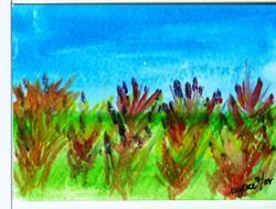 Art: Wildflowers by Artist Margie Byrne