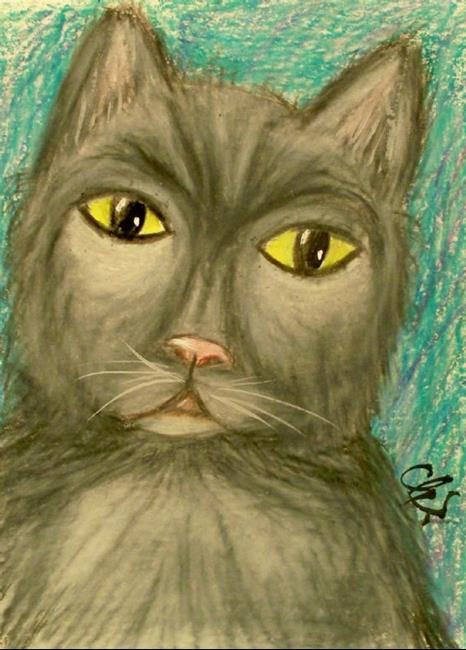Art: CAT TWO by Artist christi lynn schwartzkopf