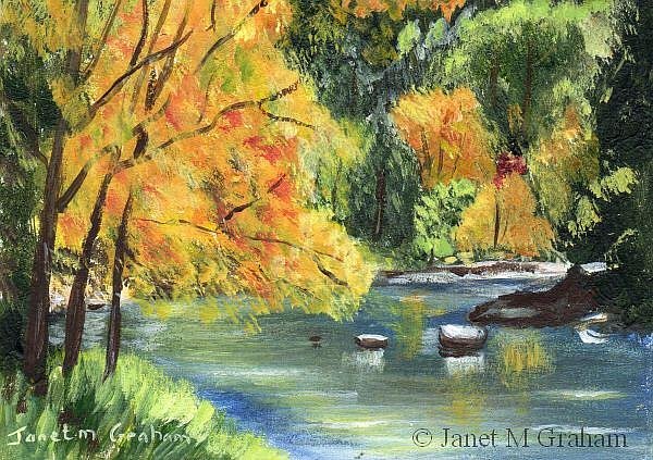 Art: Fall River ACEO by Artist Janet M Graham