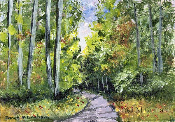Art: Country Road ACEO by Artist Janet M Graham