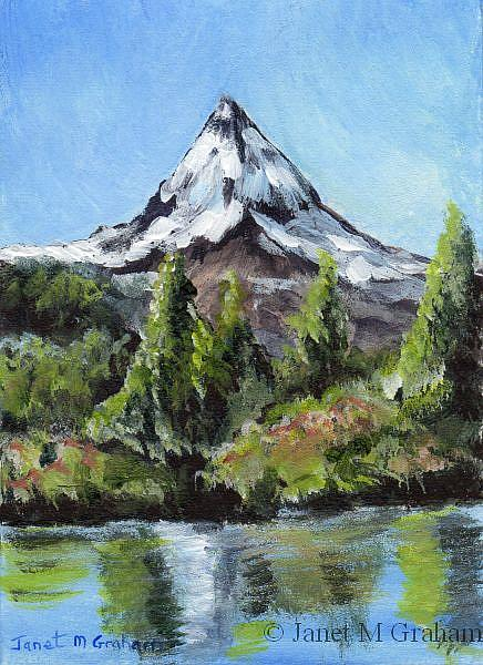 Art: Mountain Peak ACEO by Artist Janet M Graham