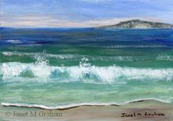 Art: Seacape 1 ACEO by Artist Janet M Graham