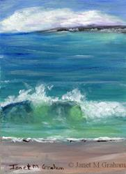 Art: Seacape 2 ACEO by Artist Janet M Graham