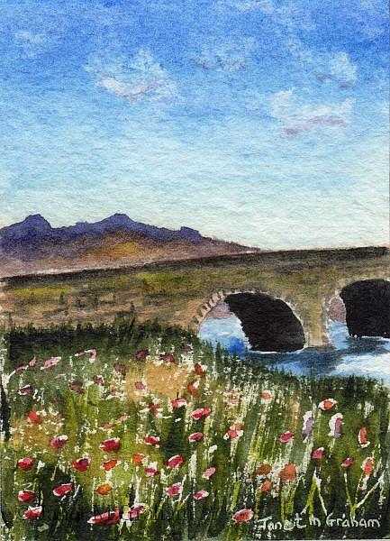 Art: Spring ACEO by Artist Janet M Graham