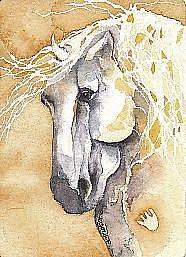Art: Santiago by Artist Gretchen Del Rio