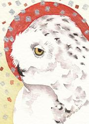 Art: GHOST OWL by Artist Gretchen Del Rio